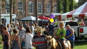 Courtyard Crowd with Pony Rides